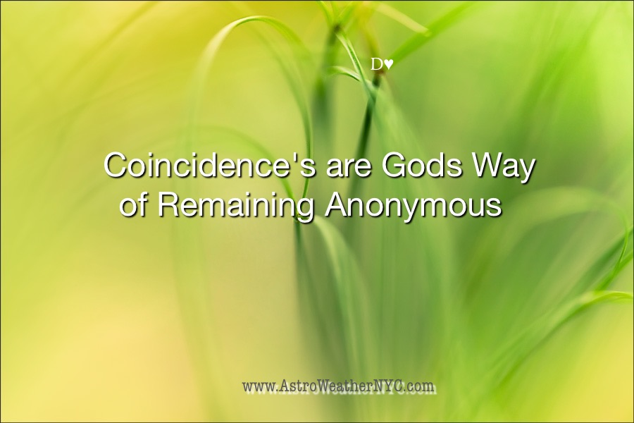 Coincidence's Are Gods Way